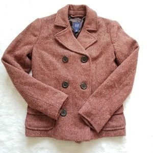 GAP Tweed Peacoat Jacket!